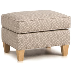 Upholstered Ottoman w/ Tapered Legs