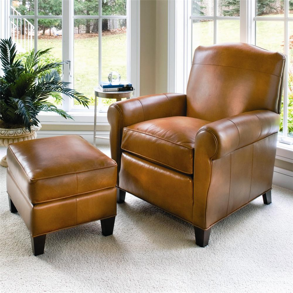 933 Upholstered Chair & Ottoman by Smith Brothers at Mueller Furniture