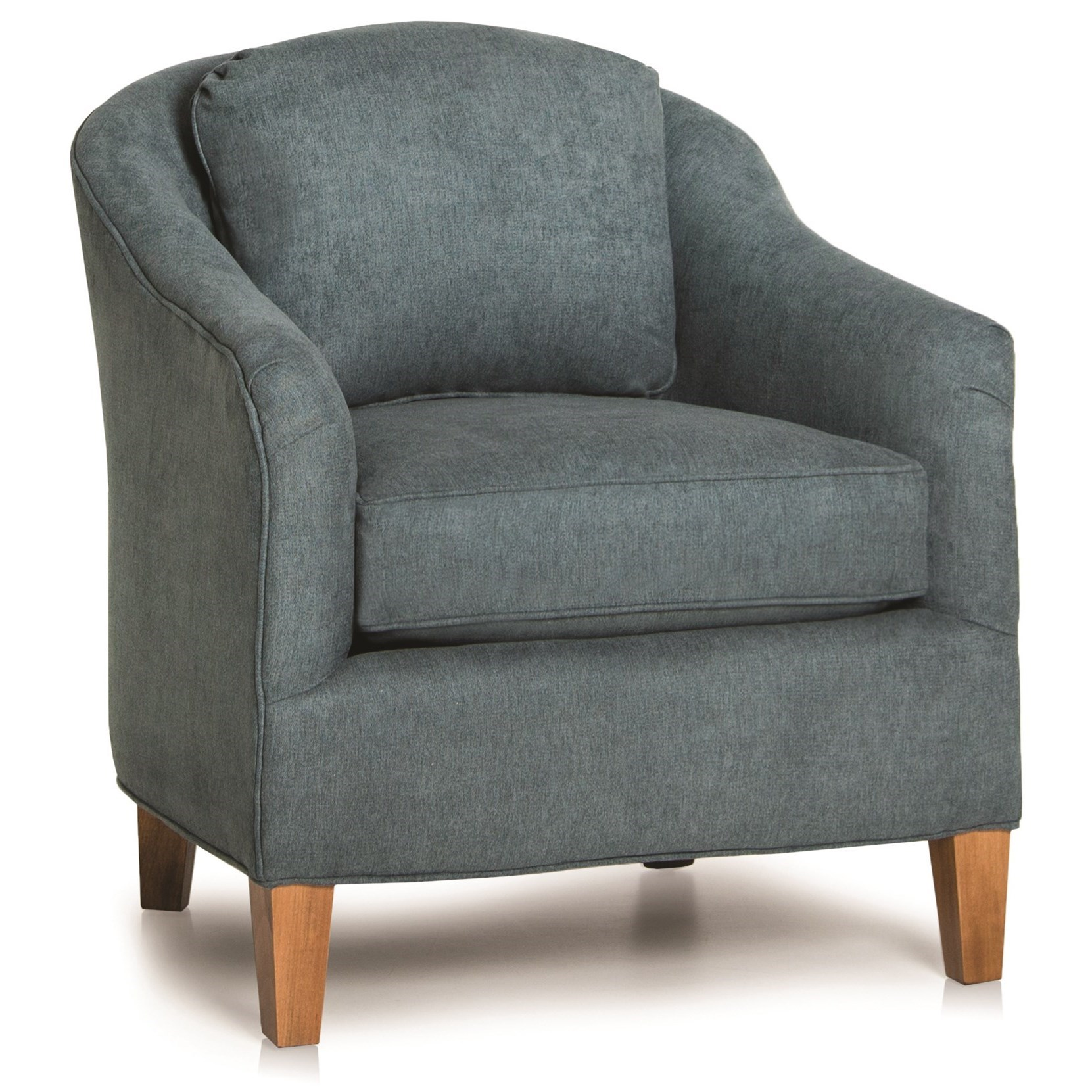 942 Contemporary Barrel Chair by Smith Brothers at Pilgrim Furniture City