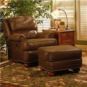 Upholstered Tilt-Back Reclining Chair & Ottoman