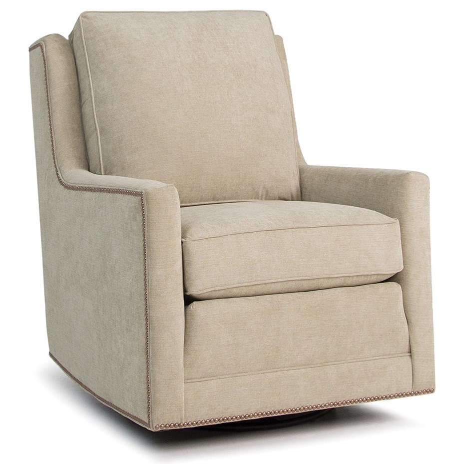 Accent Chairs and Ottomans SB Swivel Chair by Smith Brothers at Pilgrim Furniture City