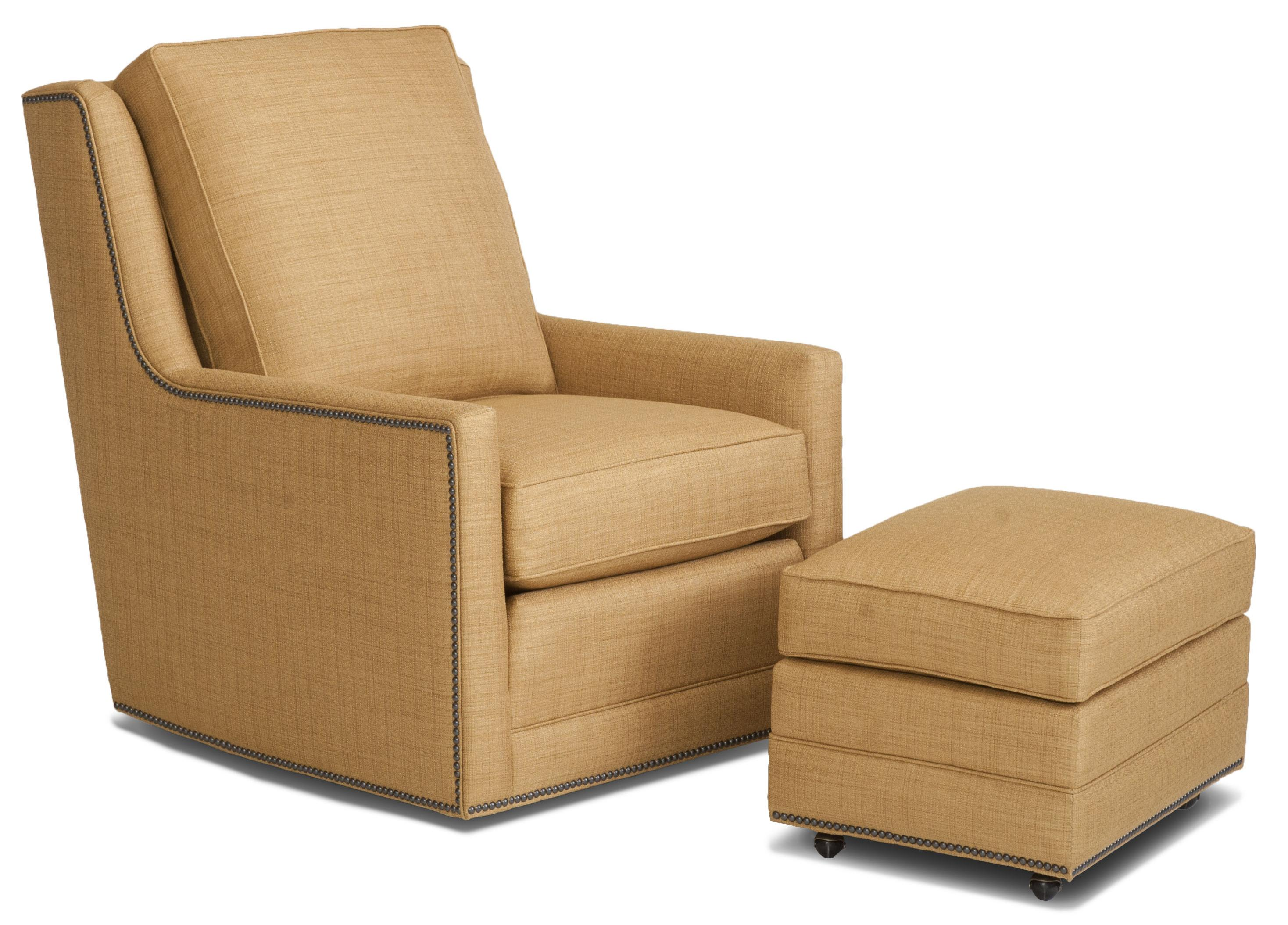 Accent Chairs and Ottomans SB Swivel Chair and Ottoman Set by Smith Brothers at Pilgrim Furniture City