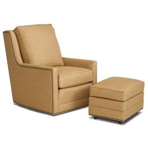 Smith Brothers Accent Chairs and Ottomans SB Swivel Chair and Ottoman Set