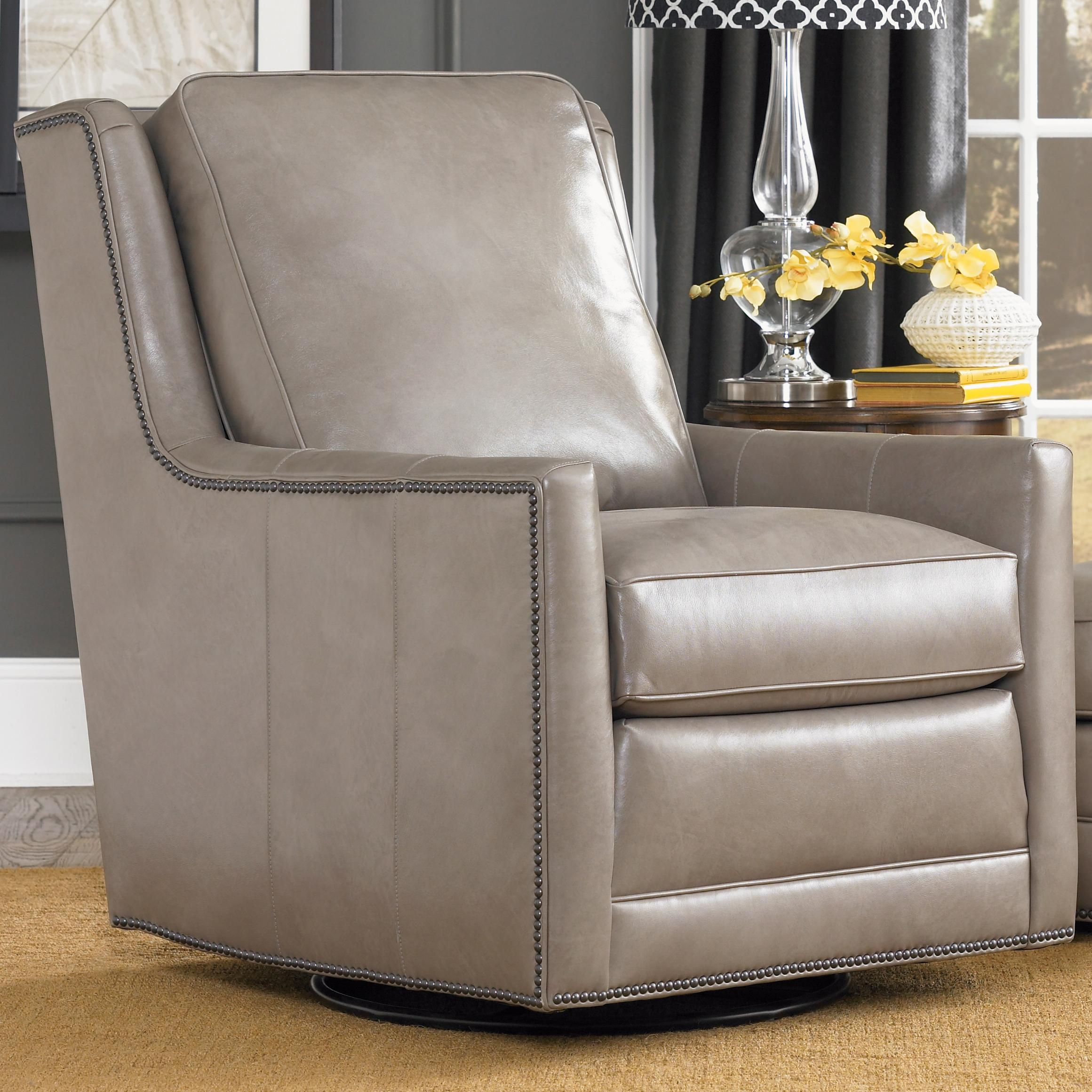 Accent Chairs and Ottomans SB Swivel Chair by Smith Brothers at Rooms and Rest