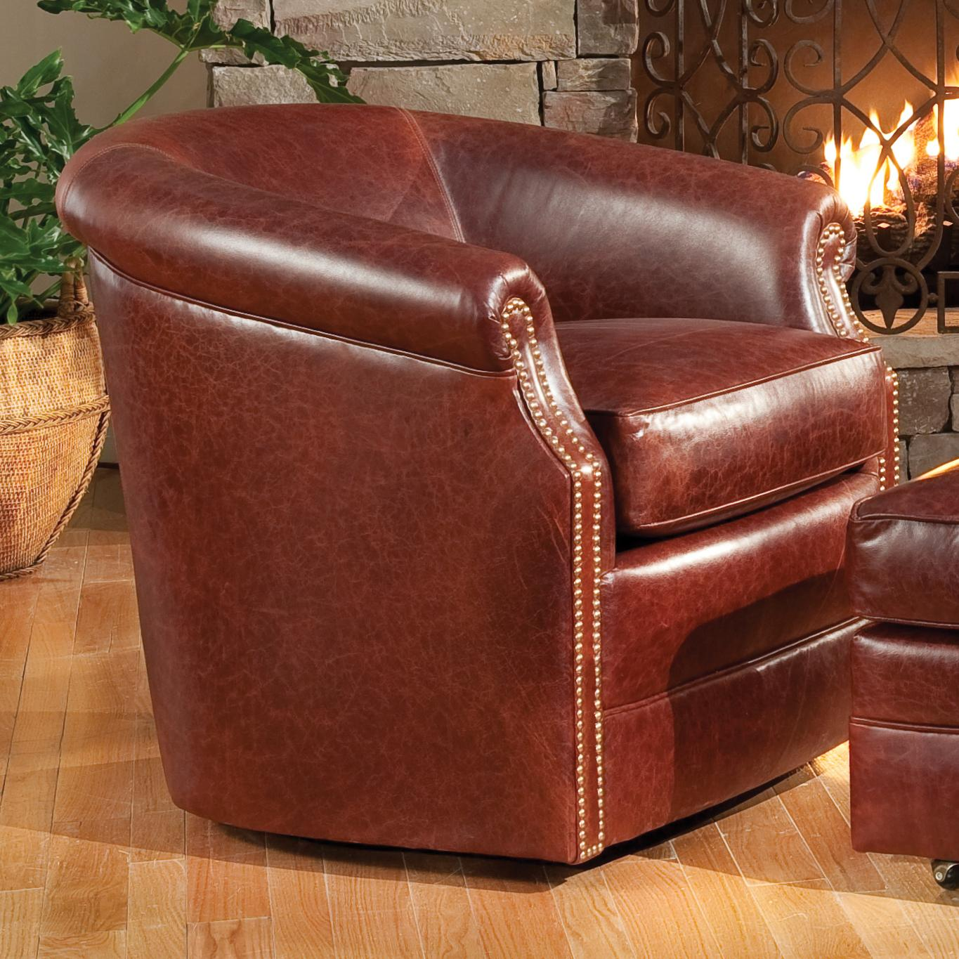 Accent Chairs and Ottomans SB Barrel Swivel Chair by Smith Brothers at Pilgrim Furniture City