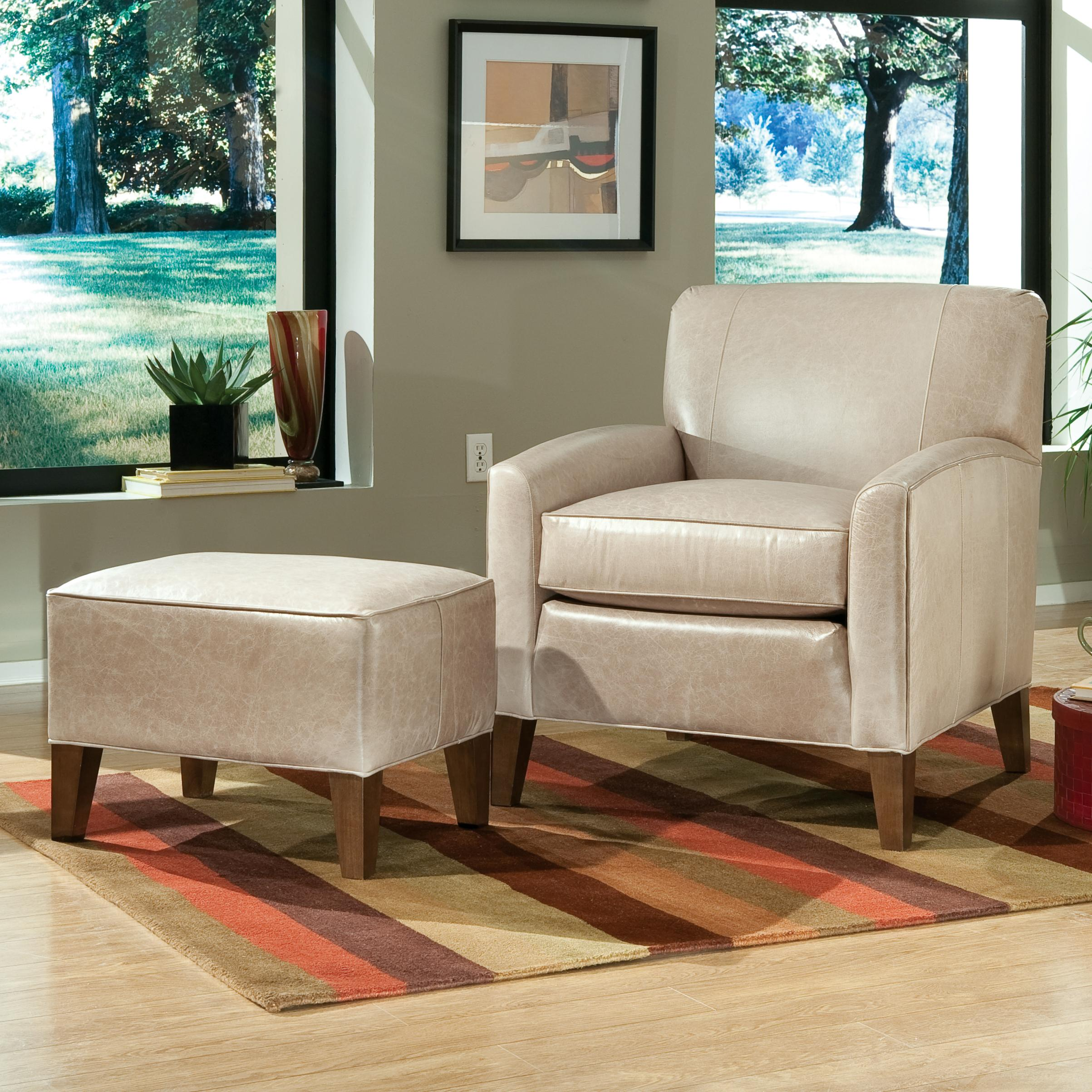 Accent Chairs and Ottomans SB Contemporary Chair and Ottoman by Smith Brothers at Mueller Furniture