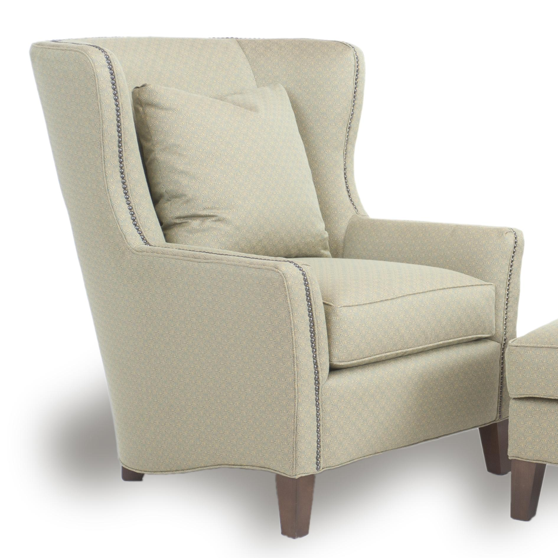 Accent Chairs and Ottomans SB Upholstered Wingback Chair by Smith Brothers at Gill Brothers Furniture