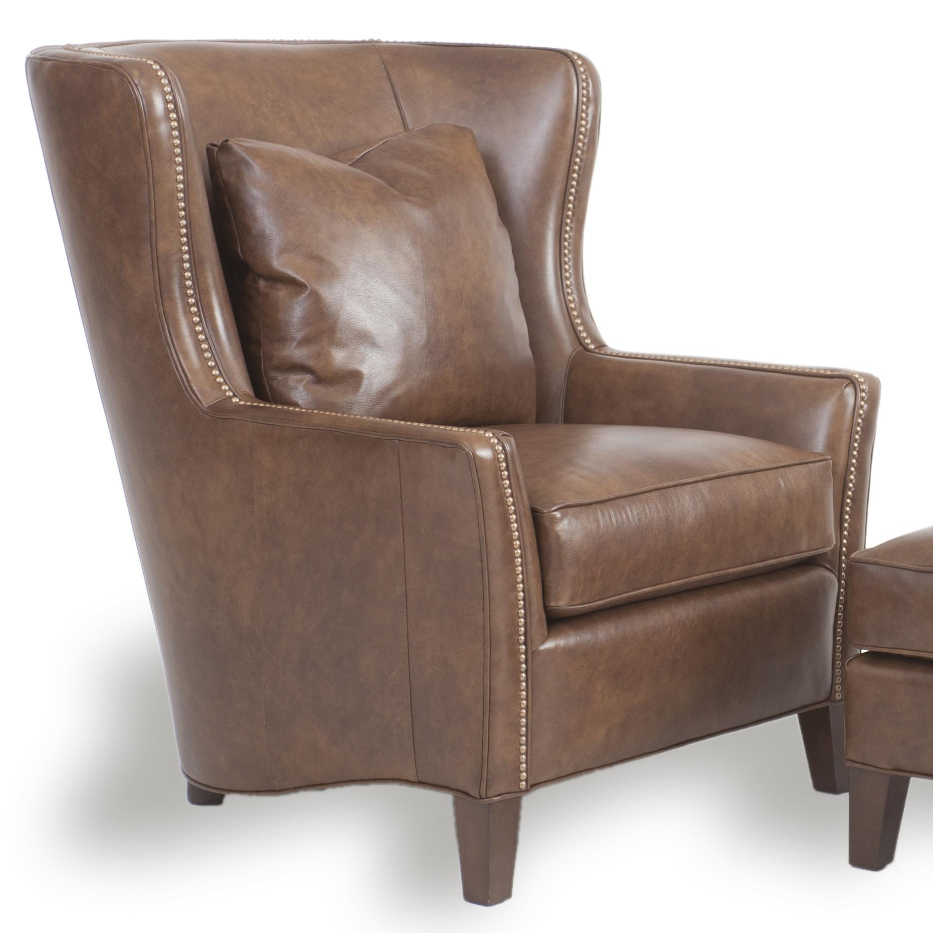Accent Chairs and Ottomans SB Upholstered Wingback Chair by Smith Brothers at Pilgrim Furniture City
