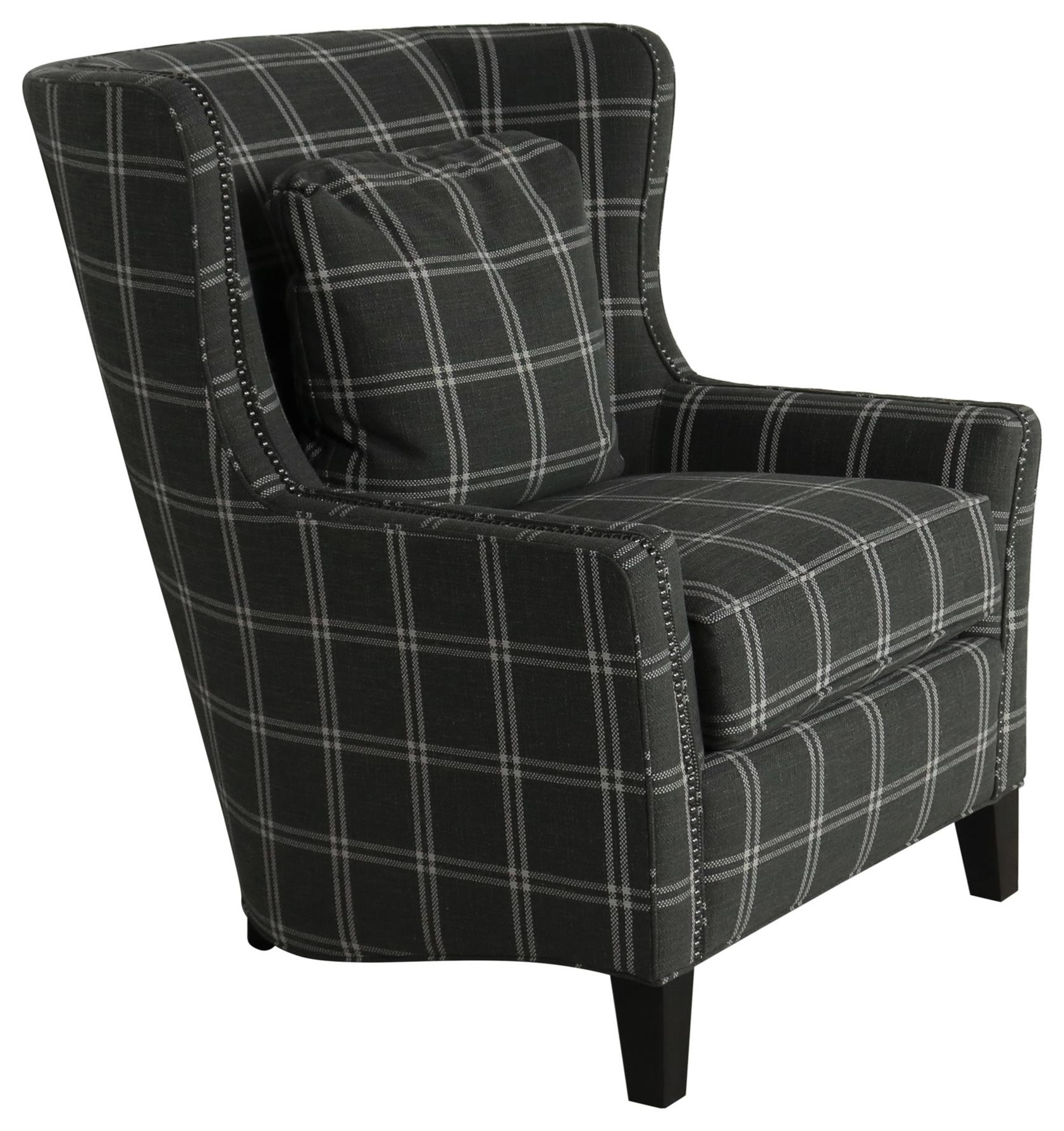 Accent Chairs and Ottomans SB Upholstered Wingback Chair by Smith Brothers at Sprintz Furniture