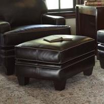 Upholstered Ottoman with Tapered Leg