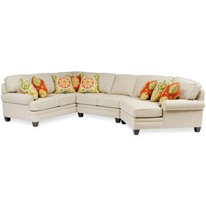 Large Sectional with Rolled Arms