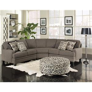 Five Person Sectional Sofa with Contemporary Style