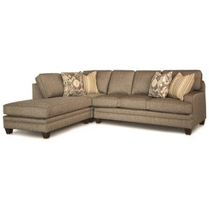 5 Seat Contemporary Sectional with Track Arms