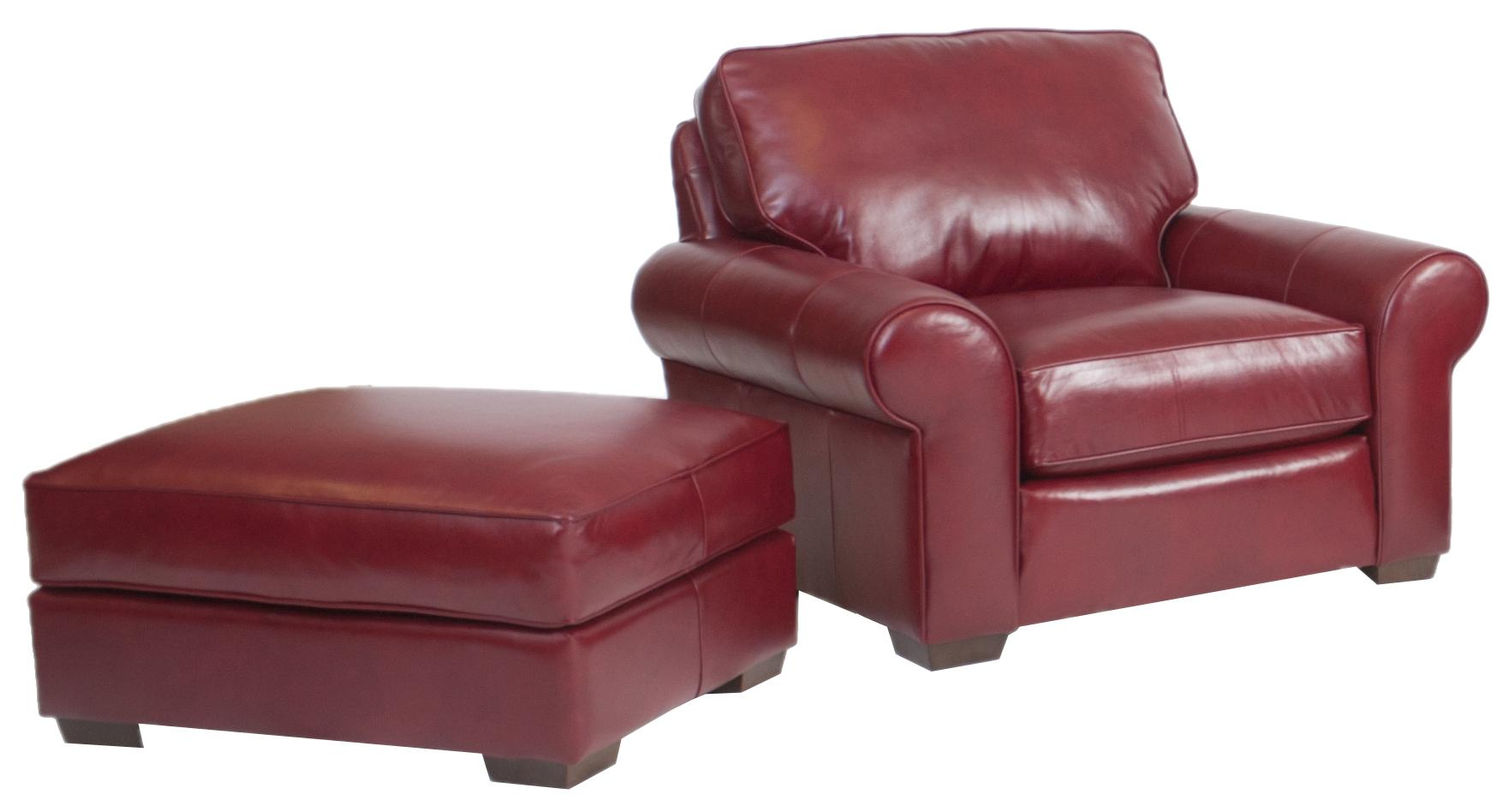 Build Your Own (8000 Series) Chair and Ottoman by Smith Brothers at Saugerties Furniture Mart