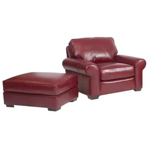 Classic and Casual Chair and Ottoman Set