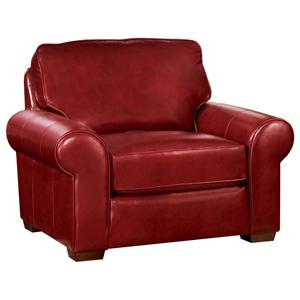 Classic Casual Chair with Sock Arms