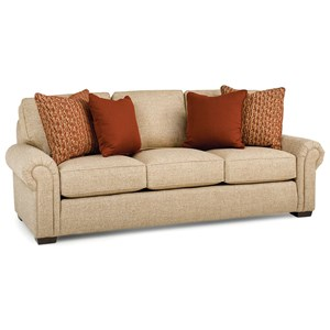Transitional Sofa with Rolled Arms