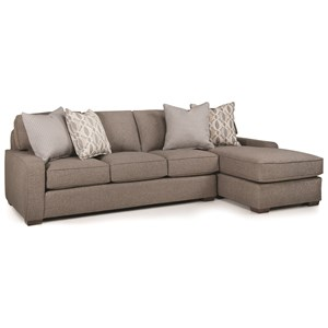 Casual 4 Seat Sectional with Right Chaise