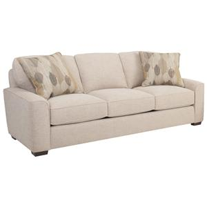 Retro Styled Sofa with Deco Arms