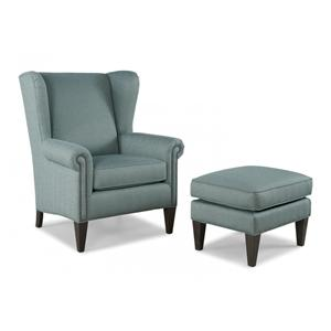 Wing Back Chair & Ottoman Set