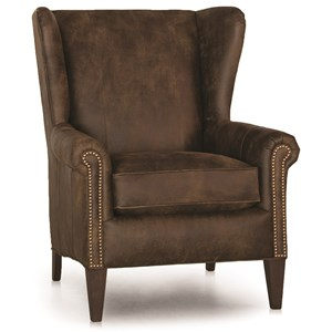 Traditional Wing Back Chair w/ Nailhead Trim