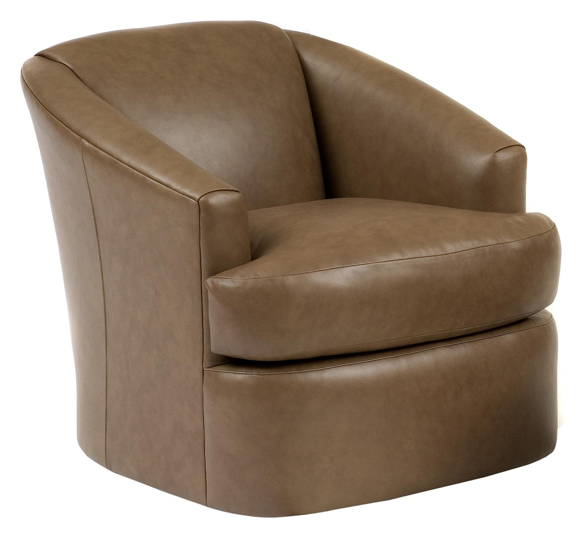 Smith Brothers Contemporary Swivel Chair by Smith Brothers at Saugerties Furniture Mart