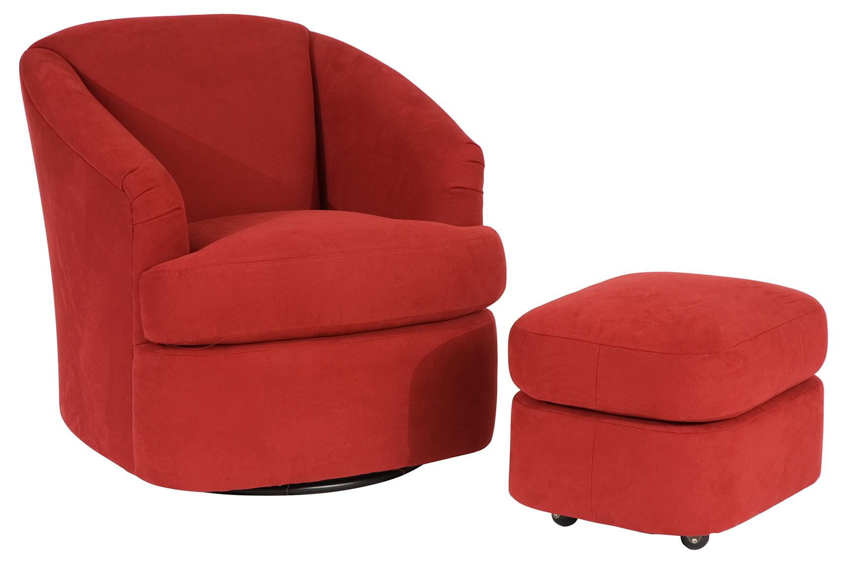 Smith Brothers Contemporary Chair and Ottoman by Smith Brothers at Saugerties Furniture Mart