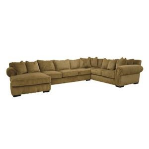 3 PC Down Sectional Sofa with Chaise