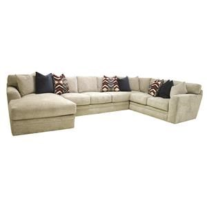 3 PC Down Sectional with Chaise