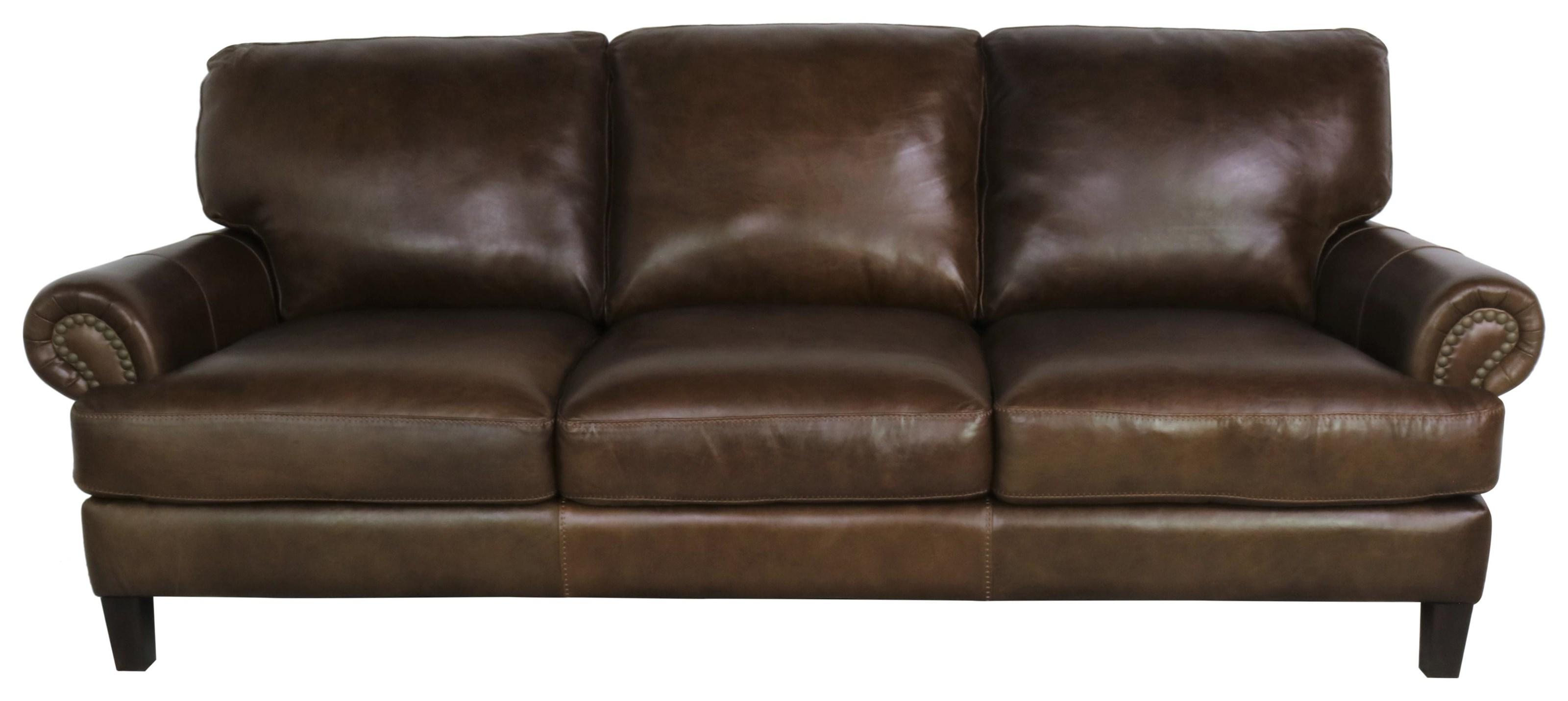 7386 Italian Leather Sofa by Giovanni Leather at Sprintz Furniture