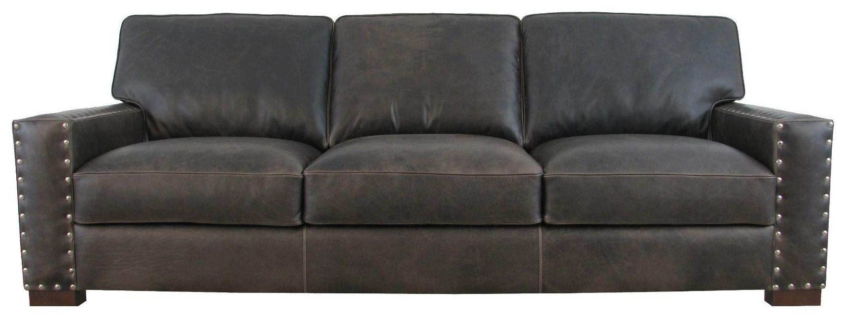 7594 Italian Leather Sofa by Giovanni Leather at Sprintz Furniture