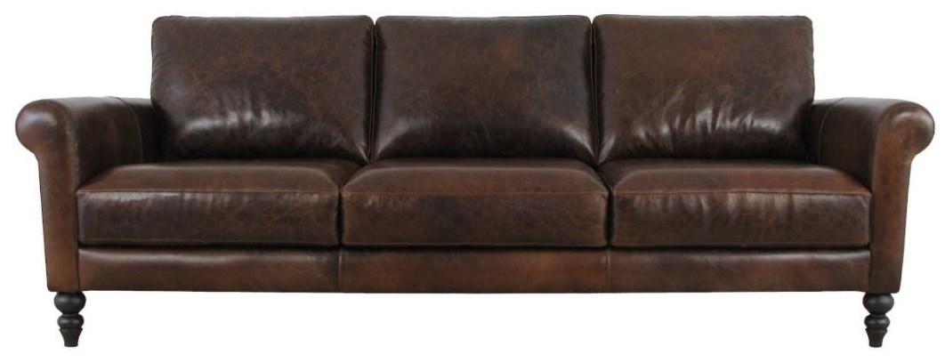 Genoa Sofa by Virginia Furniture Market Premium Leather at Virginia Furniture Market