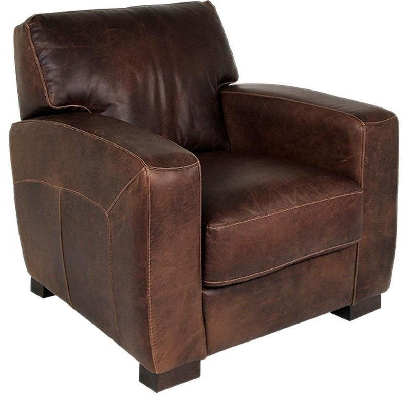 ROMEO FULL ITALIAN LEATHER CHAIR by Delfino at Walker's Furniture