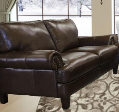 Verona Loveseat by Virginia Furniture Market Premium Leather at Virginia Furniture Market