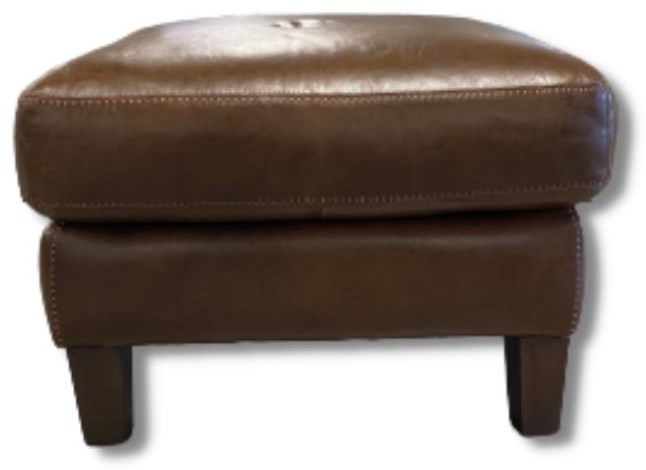Verona Ottoman by Virginia Furniture Market Premium Leather at Virginia Furniture Market