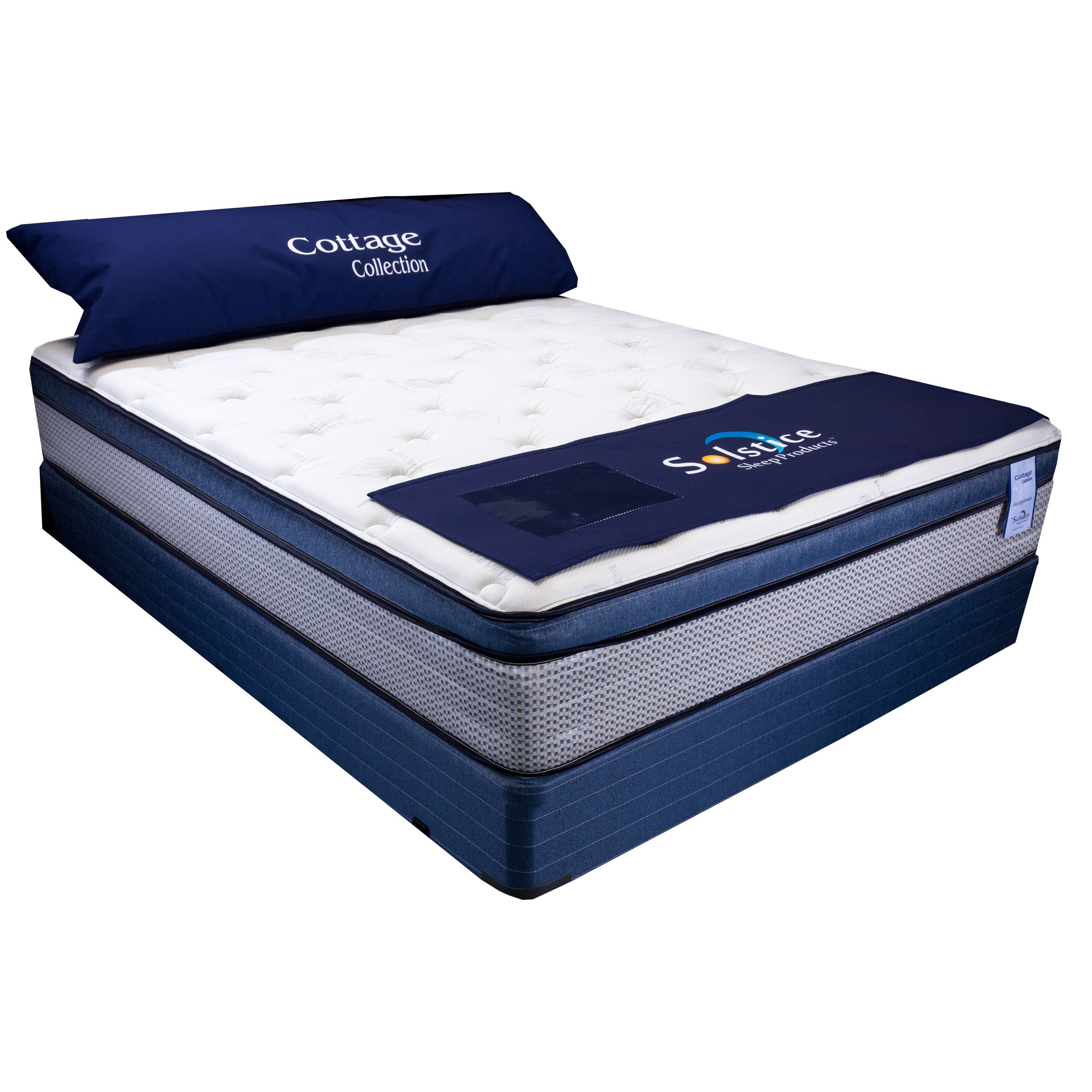 """Georgetown Euro Top II Queen 13"""" Euro Top Low Profile Set by Solstice Sleep Products at Virginia Furniture Market"""