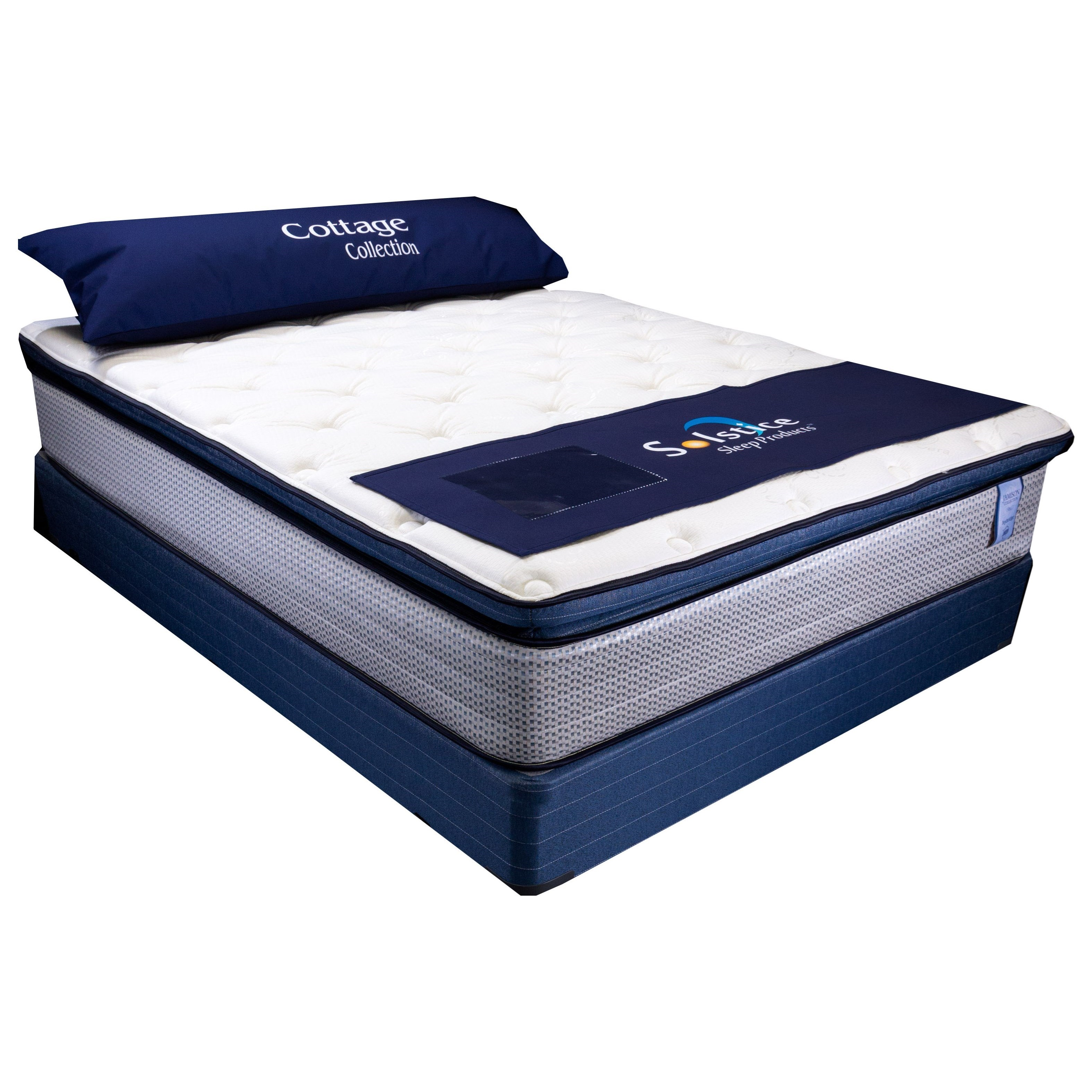 "Hampton Pillow Top II Twin 13"" Pillow Top Mattress Set by Solstice Sleep Products at Virginia Furniture Market"
