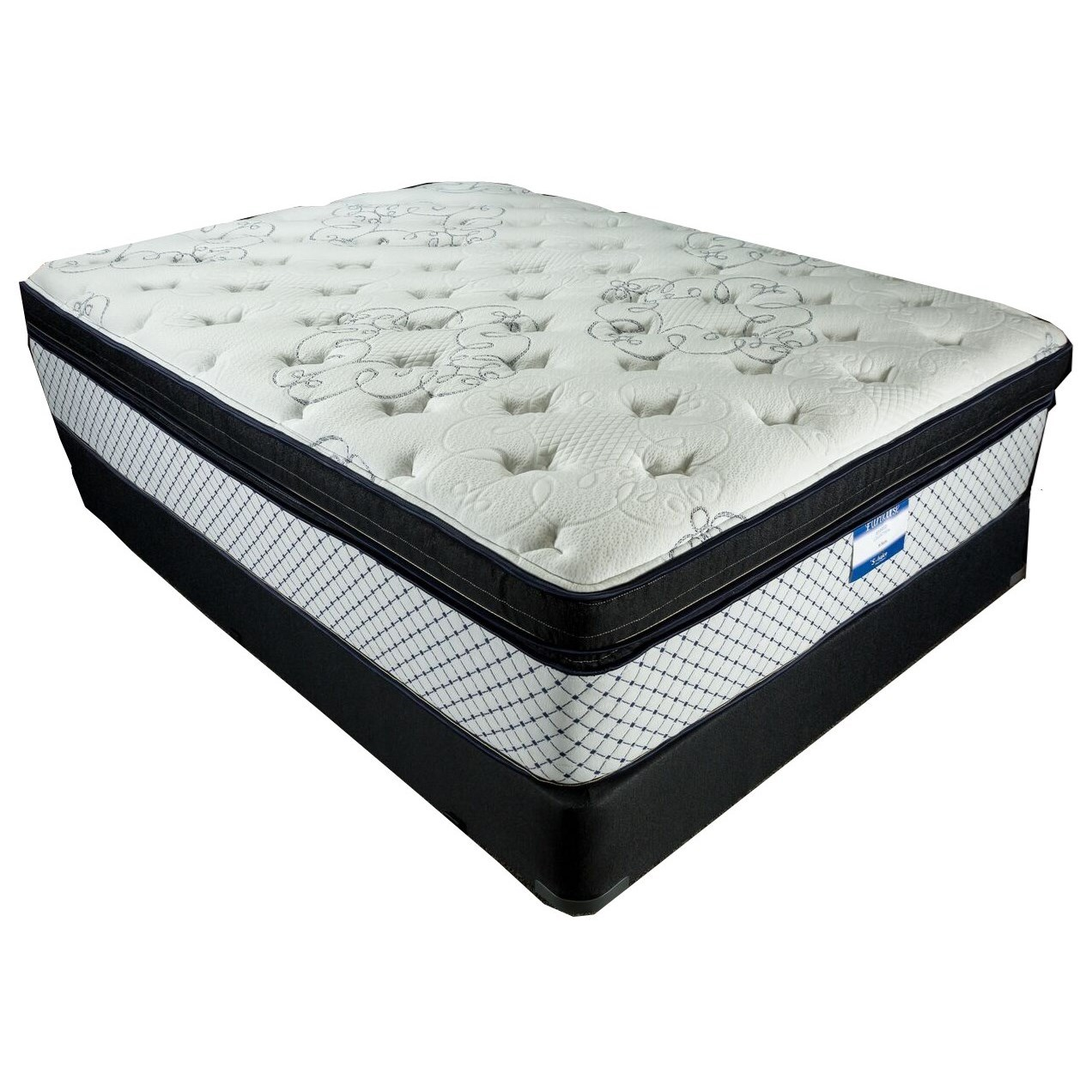 """St Barts Ultra Luxury Twin 14 1/2"""" Ultra Plush Hybrid BT Set by Solstice Sleep Products at Virginia Furniture Market"""
