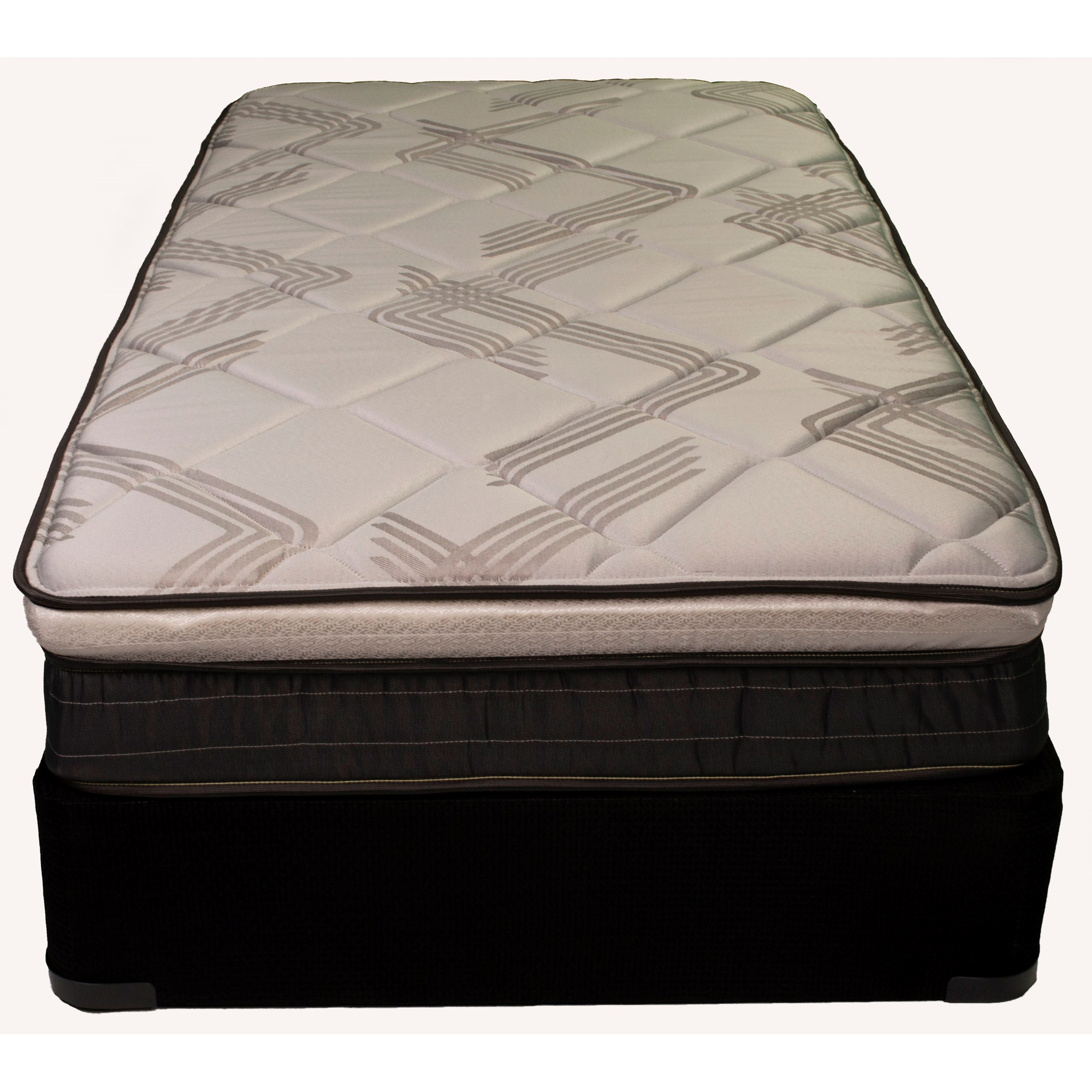 """Artisan ET King 9 1/2"""" Euro Top Mattress Set by Solstice Sleep Products at EFO Furniture Outlet"""