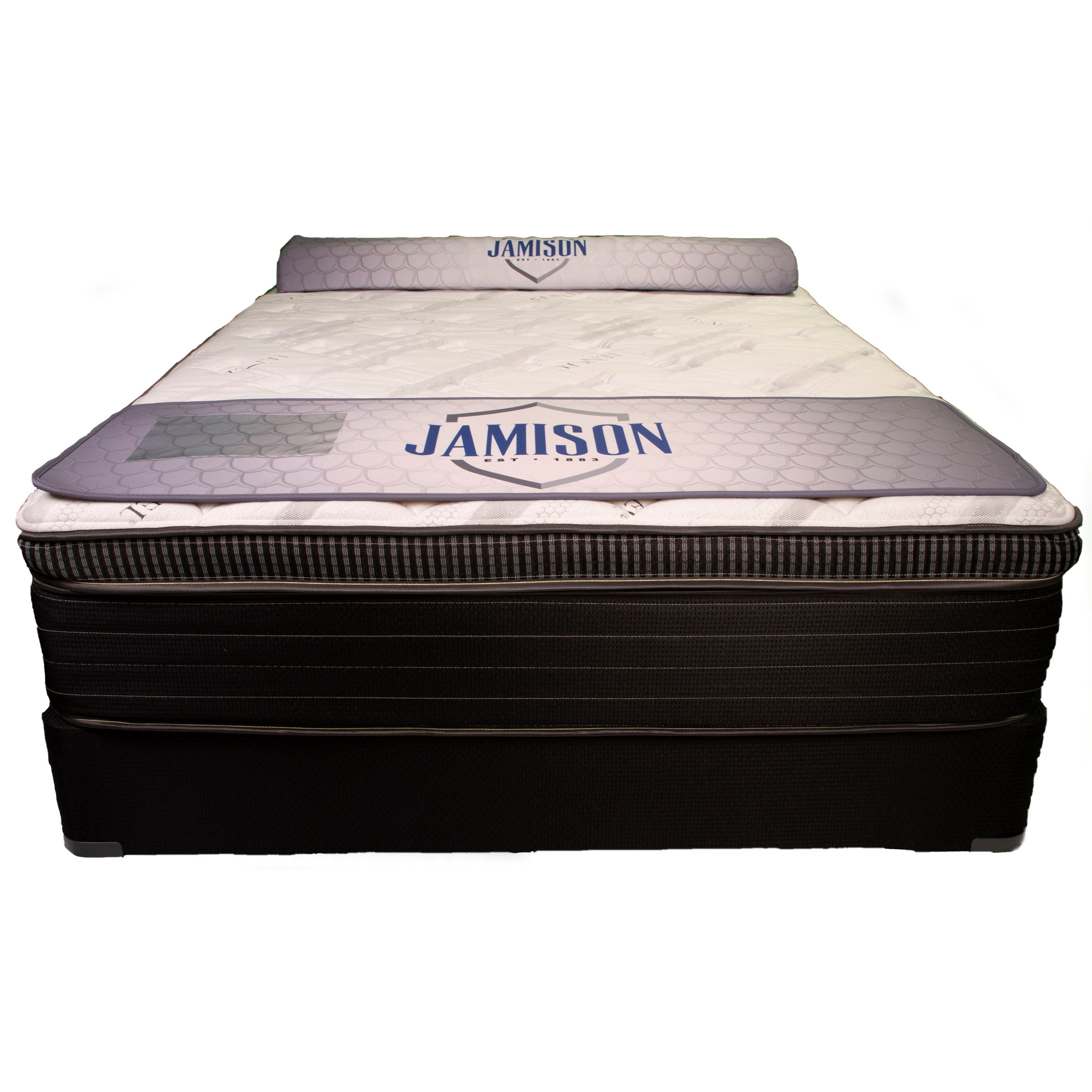 """Winter Haven BPT Queen 14 1/2"""" Box Top Mattress Set by Solstice Sleep Products at EFO Furniture Outlet"""