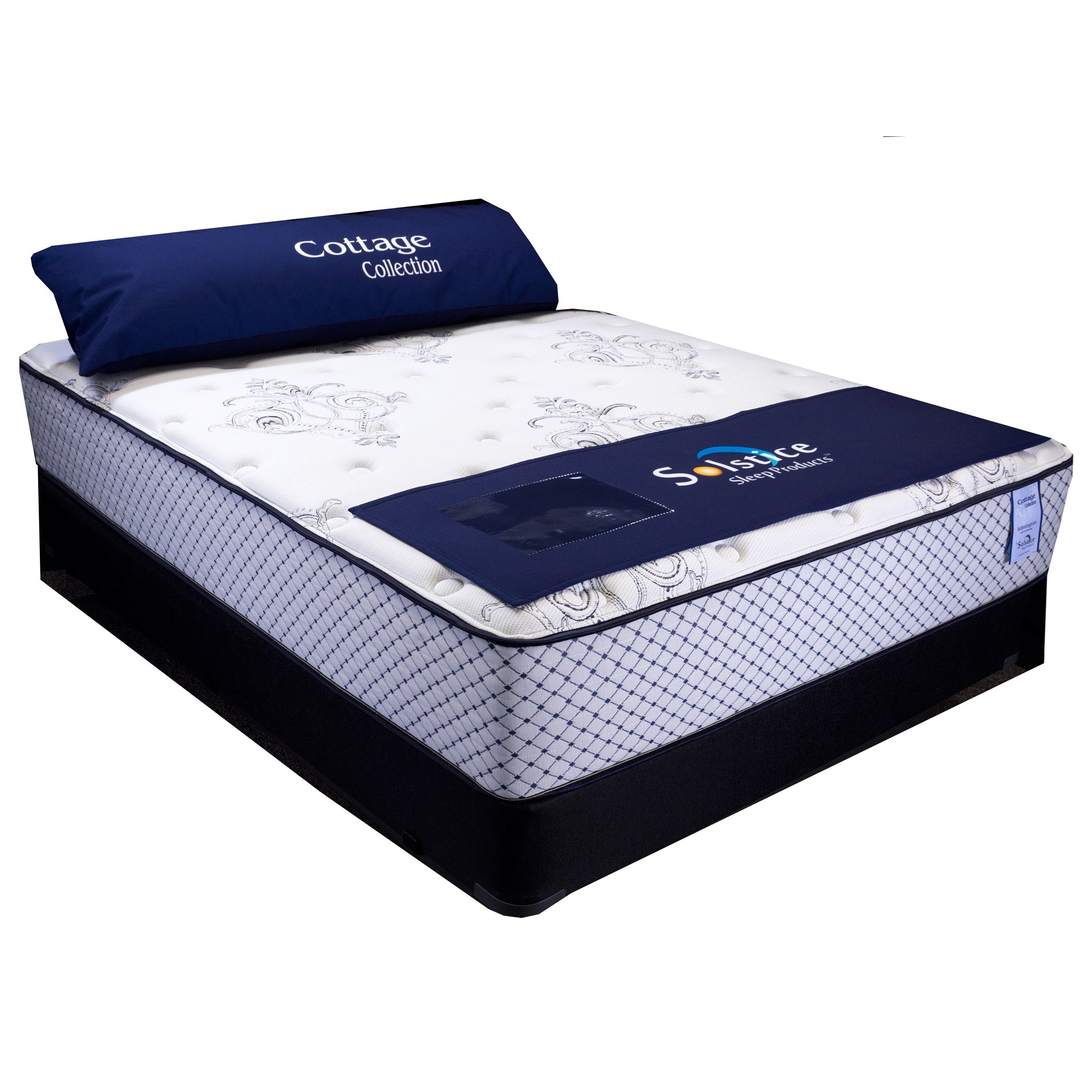 """Wilmington Plush II Full 13"""" Plush Low Profile Set by Solstice Sleep Products at Virginia Furniture Market"""