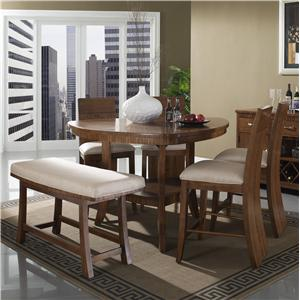 Somerton Milan 6 Piece Pub Table and Chair Set