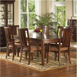 7 Piece Rectangular Leg Table & Chair Set