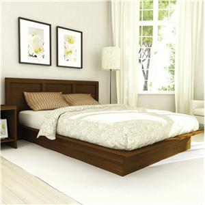 Sonax Bedroom Queen Plateau Platform Bed with Headboard