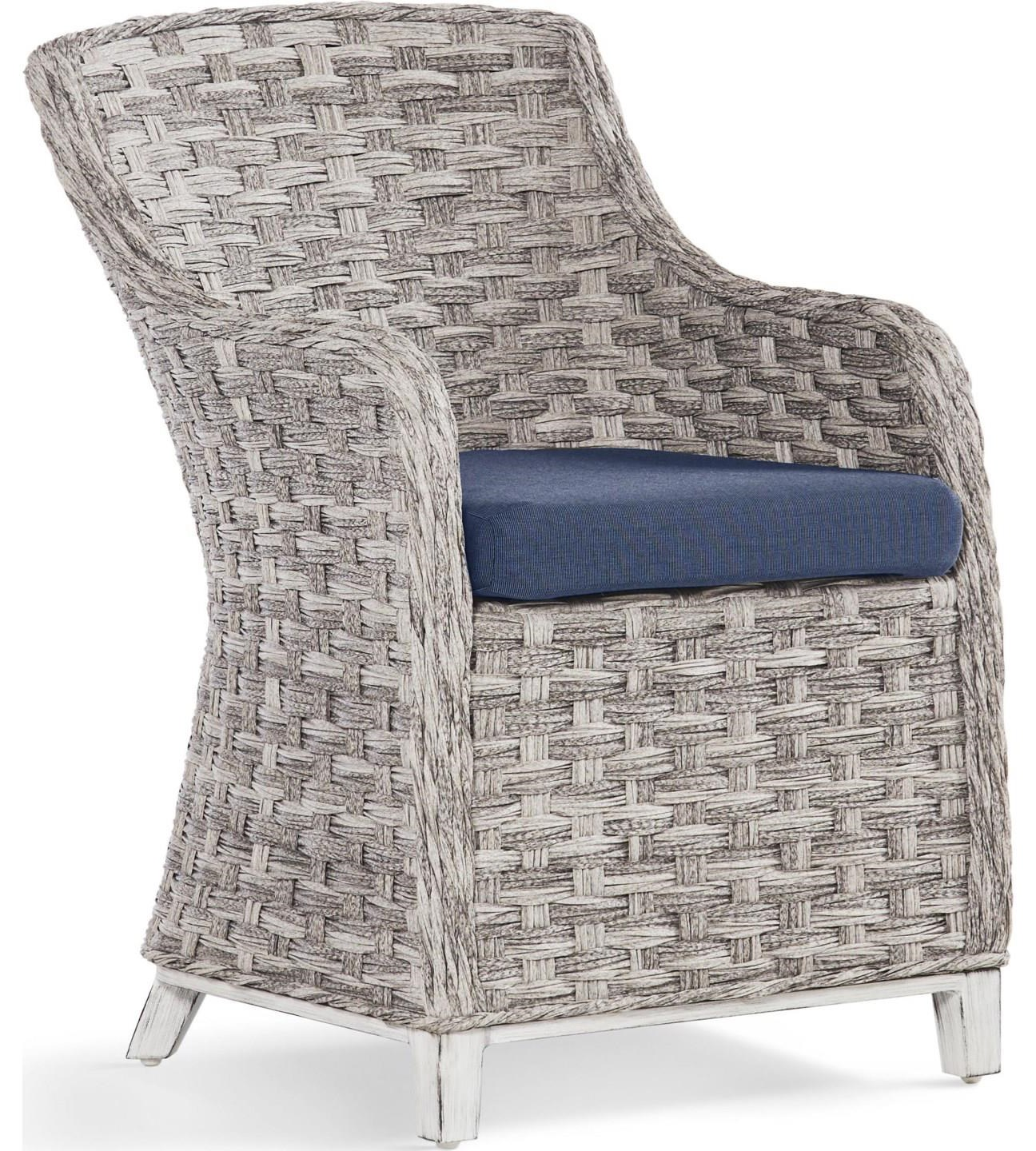 Dover Dining Grande Isle Arm Chair by South Sea Rattan & Wicker at Johnny Janosik