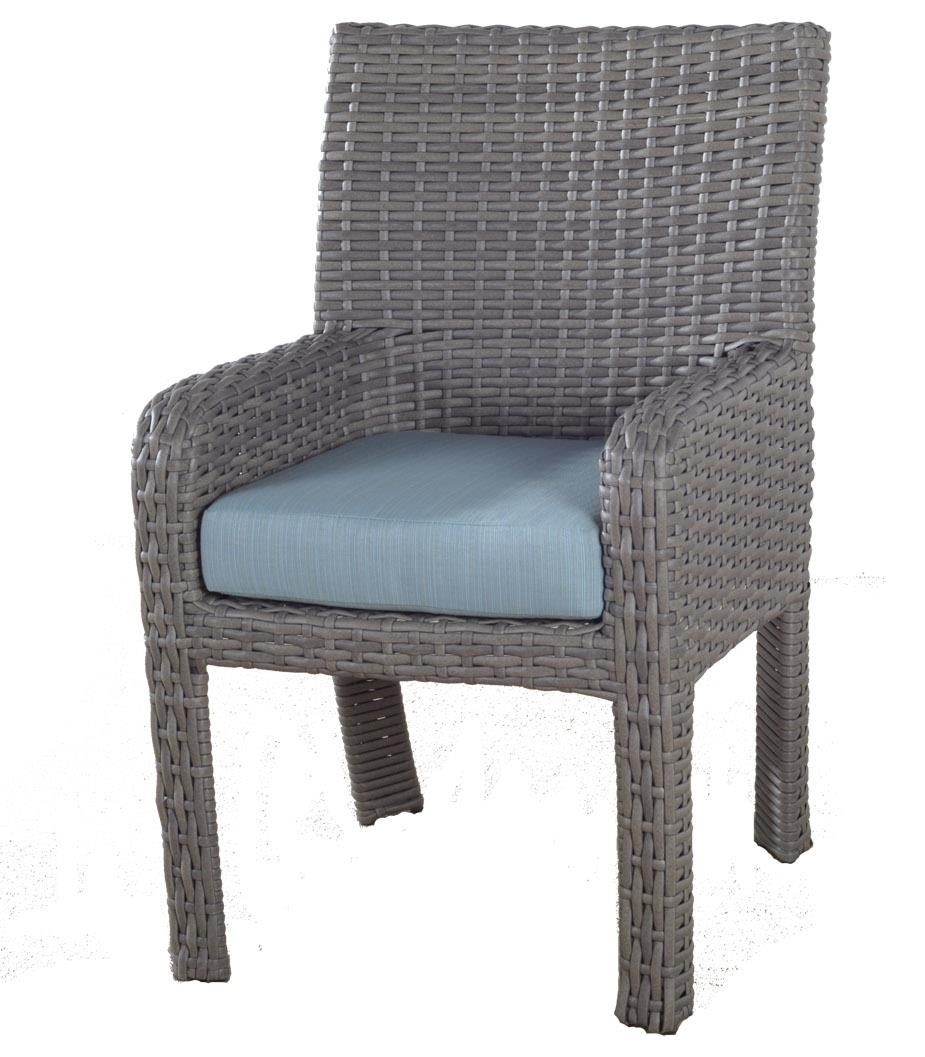 Dover Dining St Tropez Arm Chair by South Sea Rattan & Wicker at Johnny Janosik