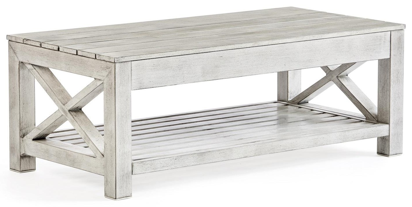Farlowe Coffee Table by South Sea Rattan & Wicker at Johnny Janosik