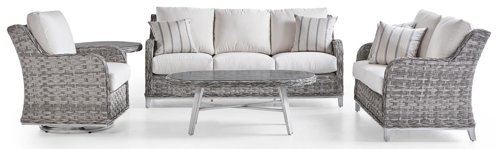 Grand Isle OUTDOOR 5 PIECE SET by South Sea Rattan & Wicker at Dream Home Interiors