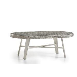 Oval  Coffee Table w/Glass