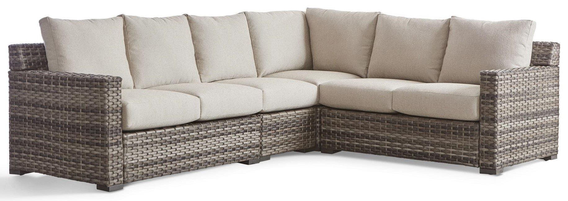 New Java Outdoor Sectional by South Sea Rattan & Wicker at Dream Home Interiors